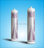 Acid silicone sealant for window glass joint