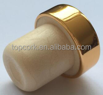 plated aluminium cap bottle stopper TBE20.2-29-20.9-10.3-7.3g gold