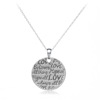 Fashion Best Wishes Words Inlaided Pendant Necklace 5-1562-4500