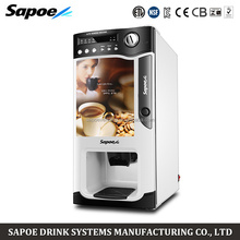 Latest european design 3 hot drinks selections coffee machine coin operated water vending machine