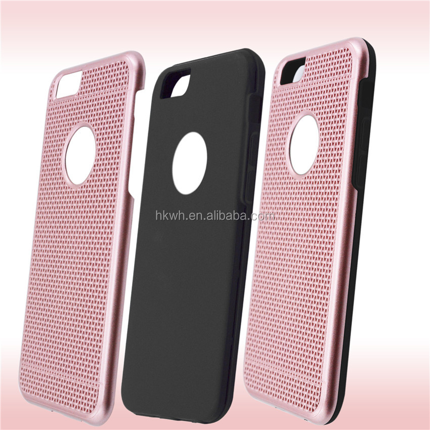 Top quality woven pattern electroplated TPU mobile phone case for iphone 5/iphone 5s 6 6s