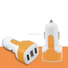 LED display voltage current USB car charger 2 ports dual port car-charger for cell phone for Iphone SE 64dg
