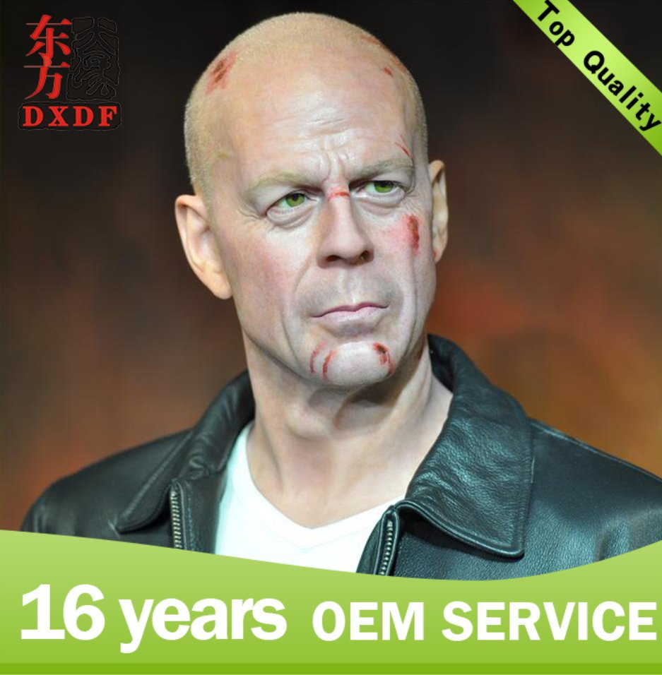 Hollywood souvenirs custom silicone action figure Bruce Willis for collection