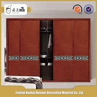 Bedroom teak wood wooden shutter laminate wardrobe sliding door designs