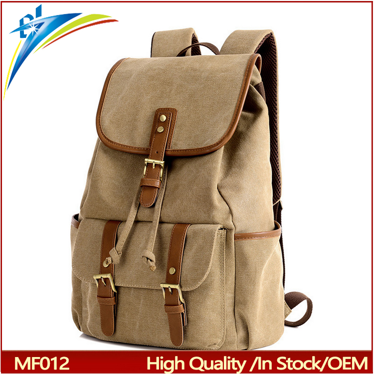 wholesale new brown drawstring school backpack Top grade quality against fading