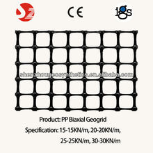 Polypropylene Biaxial Geogrid, road based paving material