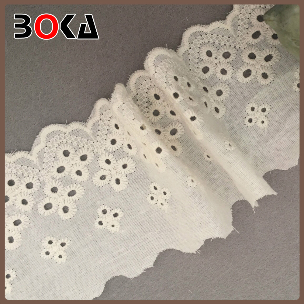 unique designs water soluble trimmings cotton guipure lace Flower Design lace embroidered wedding