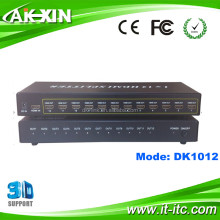 Full-HD Composite Video Splitter 12 port HDMI Splitter 1X12,HDMI to SPDIF Splitter to Coaxial in Shenzhen