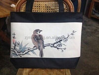 high quality eco friendly Fashion 2015 washed cotton canvas tote bag(wz0826)