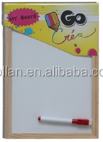 Mini Whiteboard With Wooden Frame