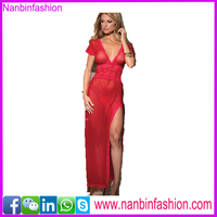 good quality sexy red lace vintage long gown babydoll lingerie