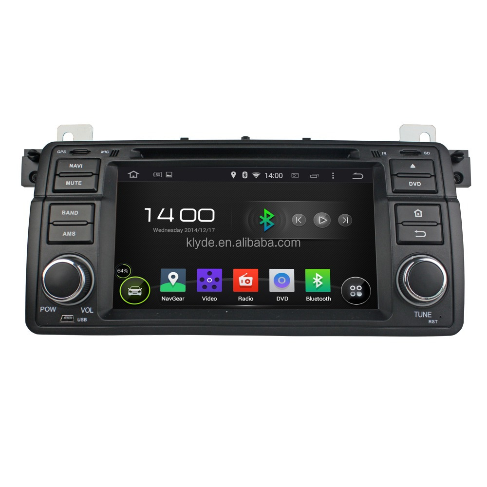 Klyde Android 5.1.1 Car radio 1din dvd player with navigation for BMW E46/M3