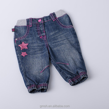 girls fashion knitted jeans customized designed girls soft denim jean trousers kids girls knited denim soft pants