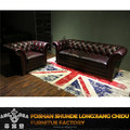 Retro wooden button back sofa set designs/Classic antique genuine leather sofa set