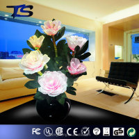 elegant artificial light up flower pot/led optical flower lamp l