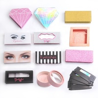 factory directly sale attraction custom printed lady use empty eyelash packaging in stock for makeup