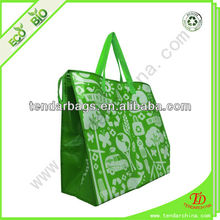 Laminated Printing Insulated Non-Woven Cooler Tote Bag With Zipper