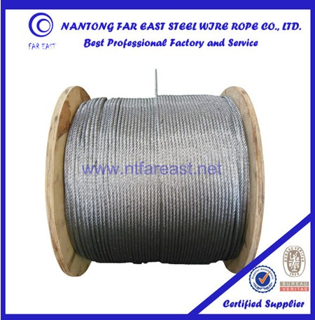 galvanized tugboat rope of 6x12+7FC
