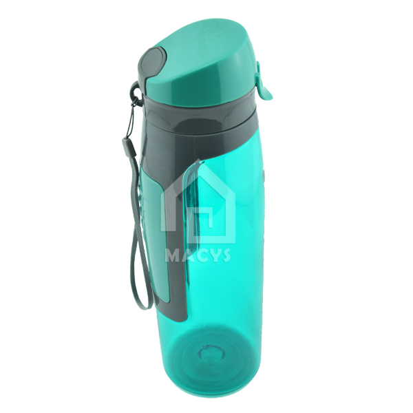 750ml plastic running and fitness water bottle with storage compartment