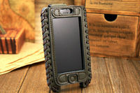 2013 SHOWKOO Premium Genuine Leather Edition Pull Tab Phone Case For Apple iPhone 5c 5s pouch case