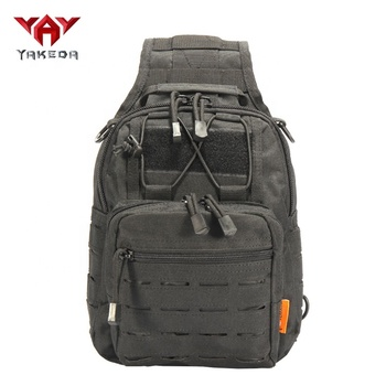 Yakeda 1000D laser cut outdoor military shoulder bag camping hiking tactical sling bag