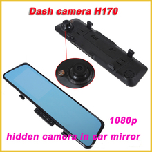 best hidden camera for car in the rearview mirror 120 degree mini dash cam H170, hidden camera in car mirror