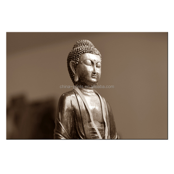 Buddha face Canvas Painting/Merciful Buddhism Canvas printed Art/ Ready to Hang Home Decor Canvas Drawing