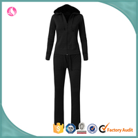 Ladies fancy winter autumn jogging matching jacket and pants satin suits