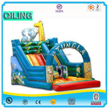 china large inflatable slide cartoon themed adult and kid inflatable dry wet slides for pool for sale