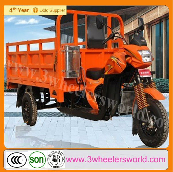 China water cooled 300cc motorized cargo tricycle with cabin