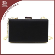 Black New PU Material Fashion Women Hotsell PU Leather Evening Bag