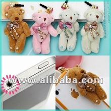 Large Teddy Bear Anti Dust Ear Cap for Phone