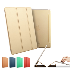 2017 New Arrvial 3-Folding Leather Case With Holder For Ipad Air 1Case, For Ipad 5 Case
