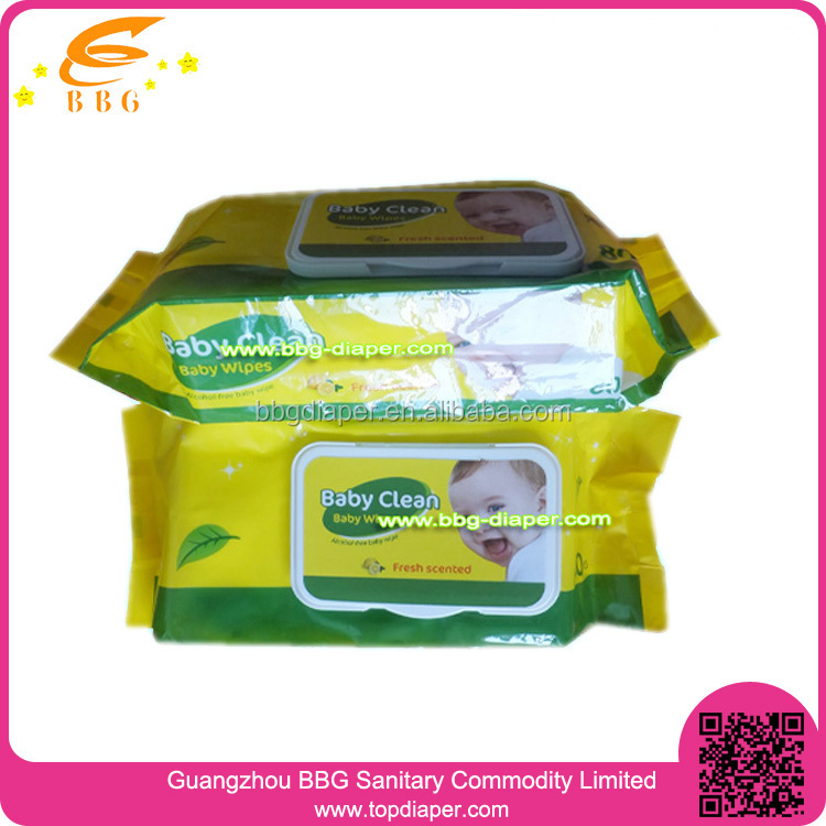 80pcs baby product disposable free sample baby wipes wholesale