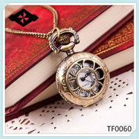 TF0060 Fancy Girls empty pocket watch antique watches for men and women