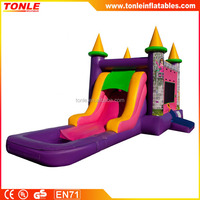 EZ Princess inflatable Bouncer Slide Combo, inflatable Wet or Dry slide