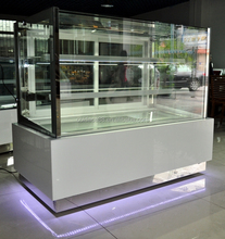 45square glass small refrigerated cake display stand for sale