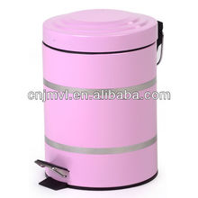 2017 Pink Pedal Galvanized plate Painted waste bins