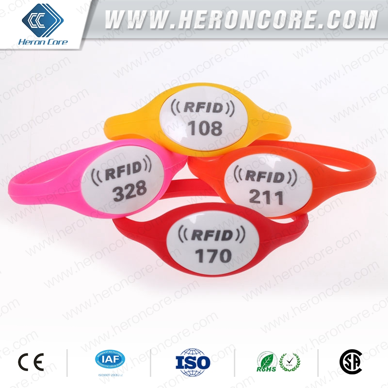 electronic and vibrating nfc activity wristband