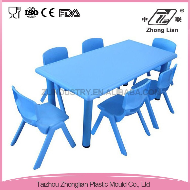 New design different color 4 legs standing large rectangle plastic tables