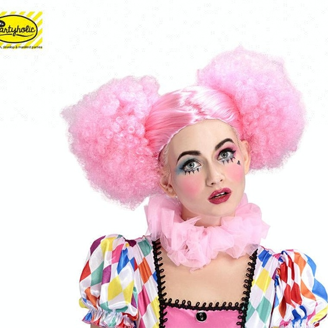 Most popular Latest design quality synthetic Exaggerated disco pigtails wigs