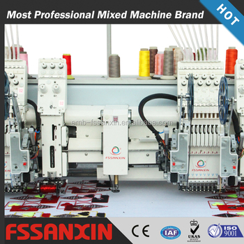 2 head high speed chenille cording taping mixed computer embroidery machine price