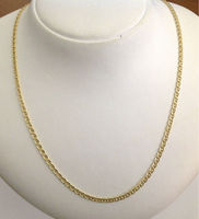 "18kt Solid Gold Unisex Chain "" Traversino link """
