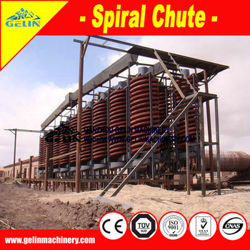 High quality gold ore spiral separator for ore separation
