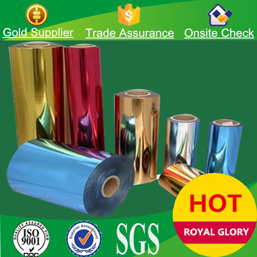 Self adhesive metallic paper hot stamping foil for packaging printing