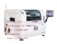 On line screen printer, automatic solder paste printer for PCB board, SMT equipment manufacturer.