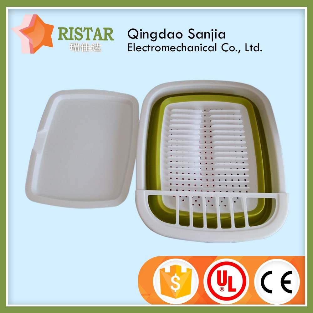 Low Price Guaranteed Folding Silicone Dish Drainer/Dish Rack