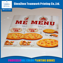 Professional design cheap colour restaurant menu book printing