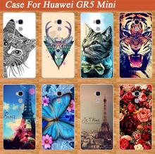 For Huawei Gr5 Mini Case Cover Hot Diy UV Painting Colored Tiger Owl Hard PC Case For Huawei Gr5 Mini Cover Sheer