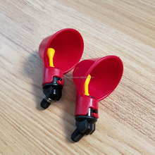 Automatic Chicken / Poultry Drinkers / Waterers with Cups Watering Bowls Red Plastic Chicken Flock Duck Birds